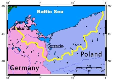 Pomerania region map